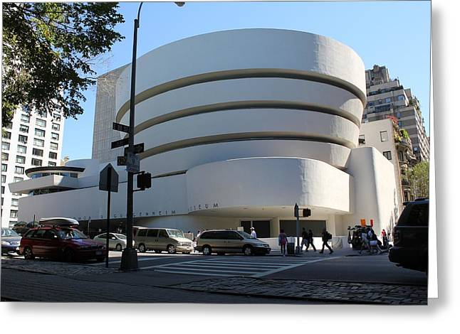 The Guggenheim Museum - New York Greeting Card by David Grant
