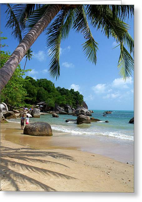 The Gulf Of Thailand On The Island Greeting Card by David R. Frazier