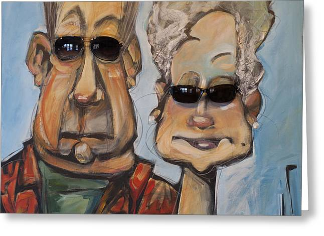 The Gundersons Take A Cruise Greeting Card by Tim Nyberg