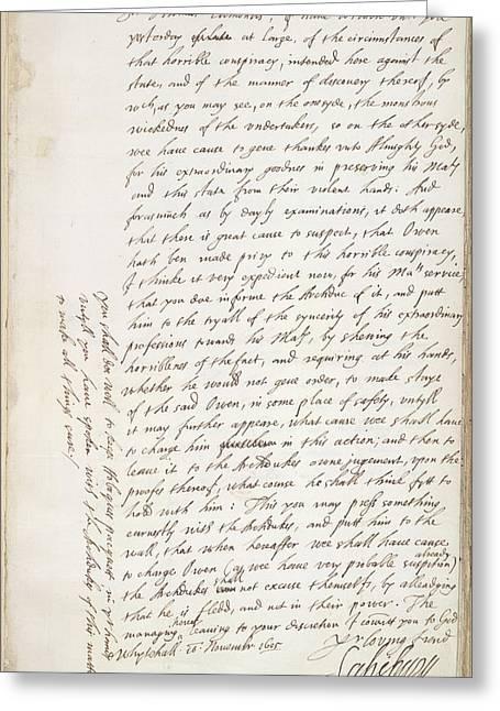 The Gunpowder Plot Greeting Card by British Library