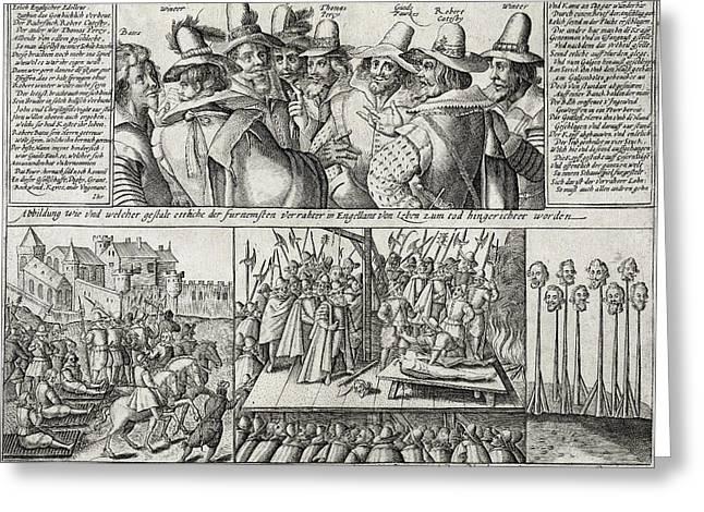 The Gunpowder Rebellion, 1605 Greeting Card by Folger Shakespeare Library