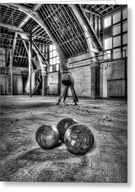 The Gym Greeting Card by Jason Green