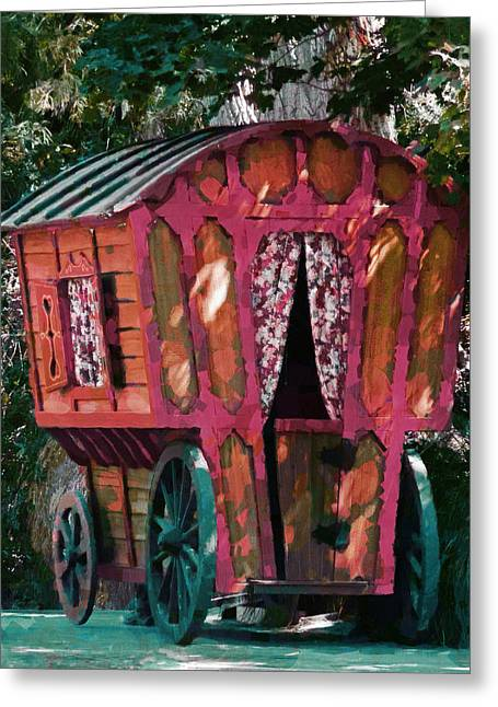 The Gypsy Caravan  Greeting Card by Steve Taylor