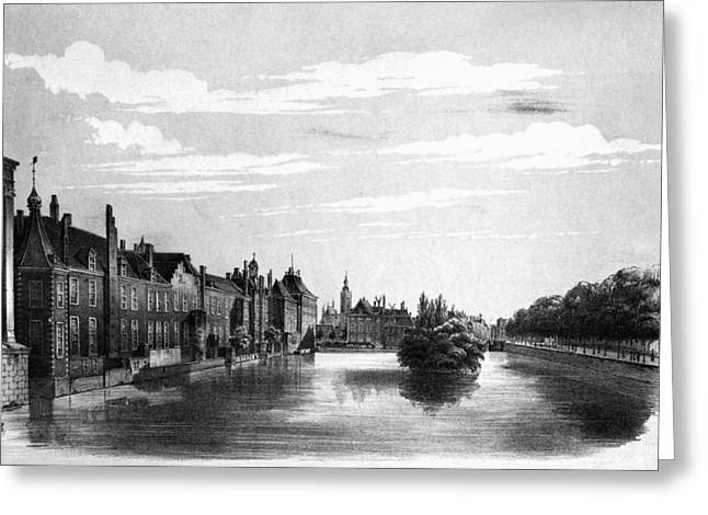The Hague Canal Greeting Card by Granger