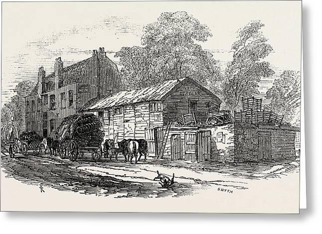 The Half-way House, Between Knightsbridge And Kensington Greeting Card