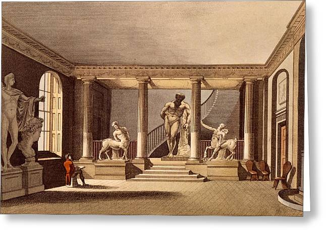 The Hall At The Royal Academy, Somerset Greeting Card by English School