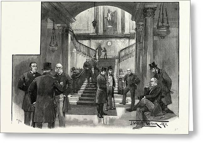 The Hall Of The Athenaeum Club, Pall Mall Greeting Card