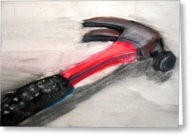 The Hammer Greeting Card by Ryan Burton