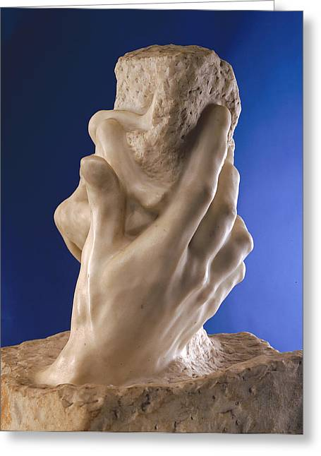 The Hand Of God, 1898 Marble Greeting Card by Auguste Rodin
