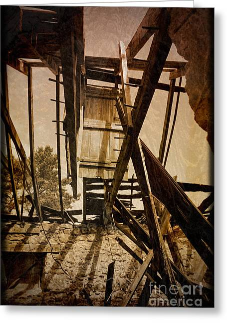 Greeting Card featuring the photograph The Hanging Door by Liz  Alderdice