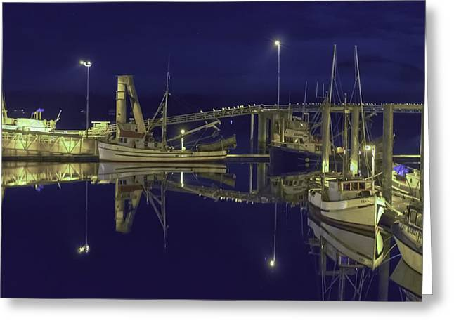 The Harbor At 1030pm Greeting Card by Timothy Latta