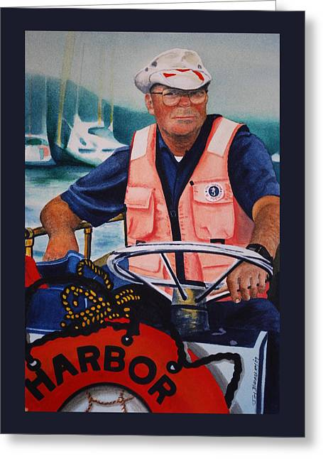 The Harbor Master Greeting Card