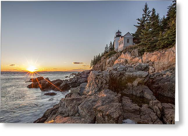 The Harbor Sunset Greeting Card by Jon Glaser
