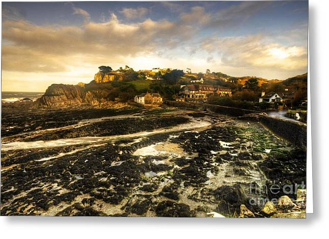 The Harbour At Lee  Greeting Card by Rob Hawkins