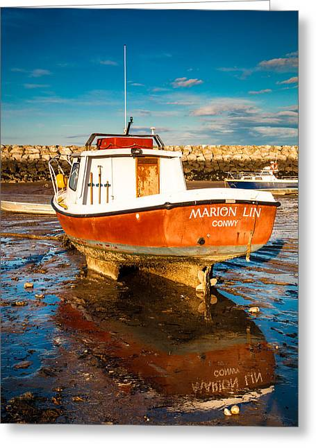 The Harbour Greeting Card by Christine Smart