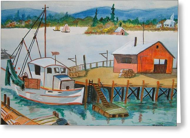The Harbour Greeting Card
