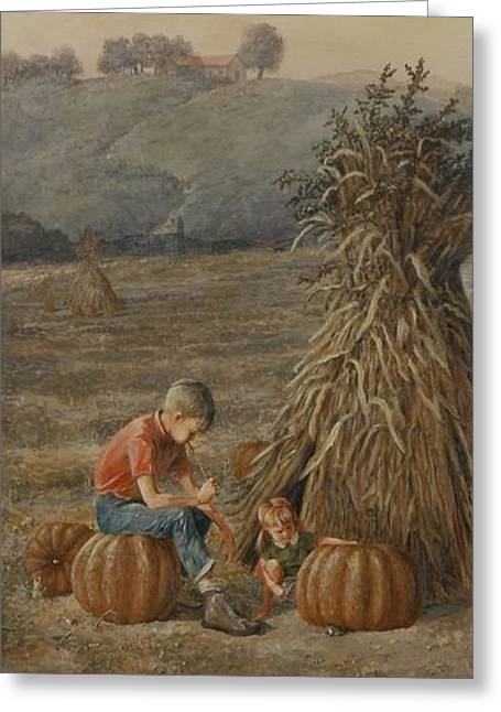 The Harvest Greeting Card by Duane R Probus