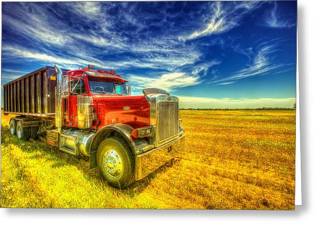 The Harvest Truck Greeting Card
