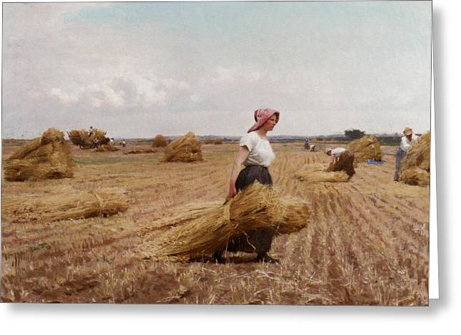 The Harvest Greeting Card by Victor Gabriel Gilbert