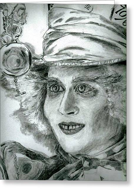 The Hatter Greeting Card by Brooke Spoelman