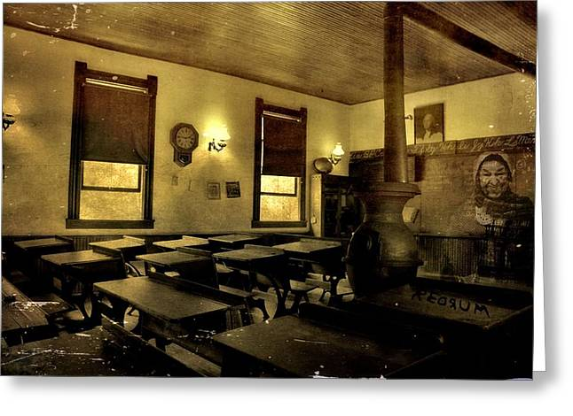 The Haunted Classroom Greeting Card by Dan Sproul