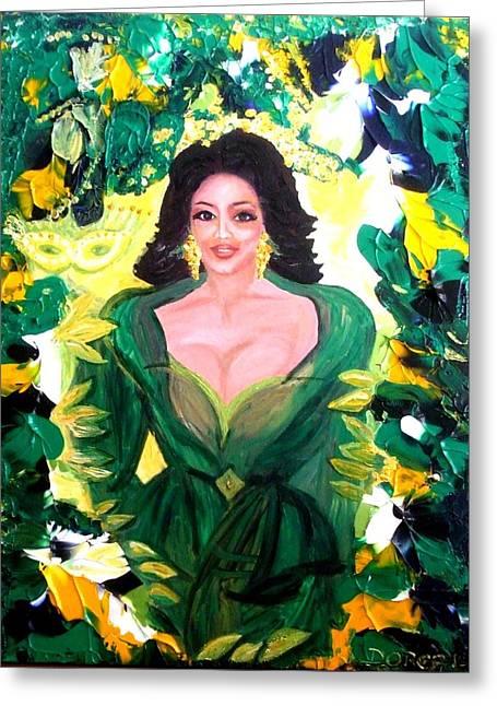The Hawaiian Queen Greeting Card by Carmen Doreal