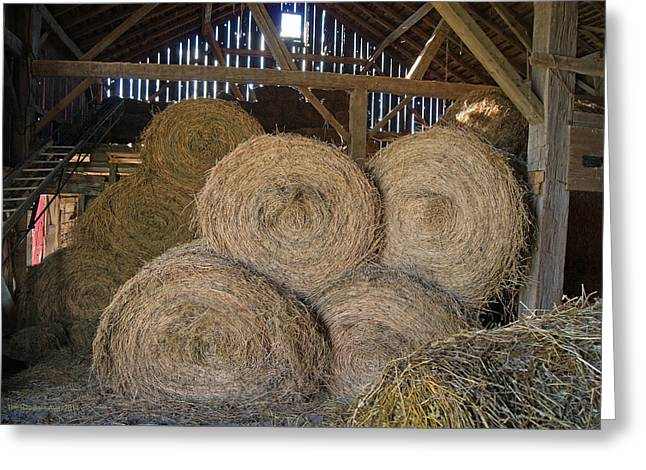 The Hay Barn Greeting Card by Steph Maxson
