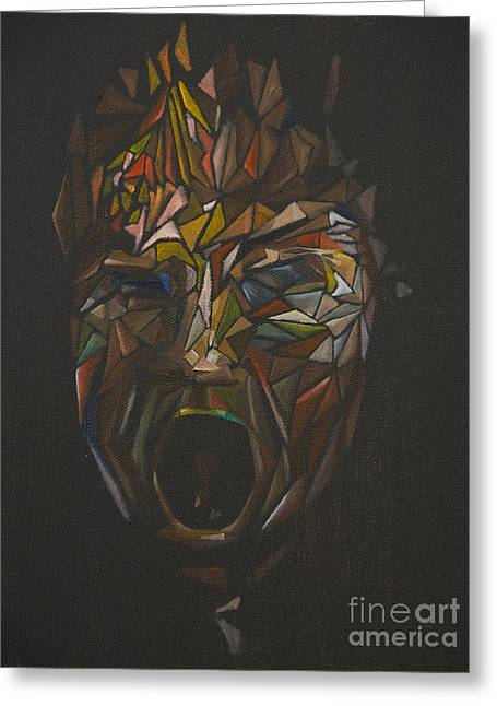 The Head Of Goliath - After Caravaggio Greeting Card