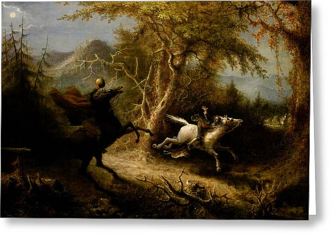 The Headless Horseman Greeting Card by Celestial Images