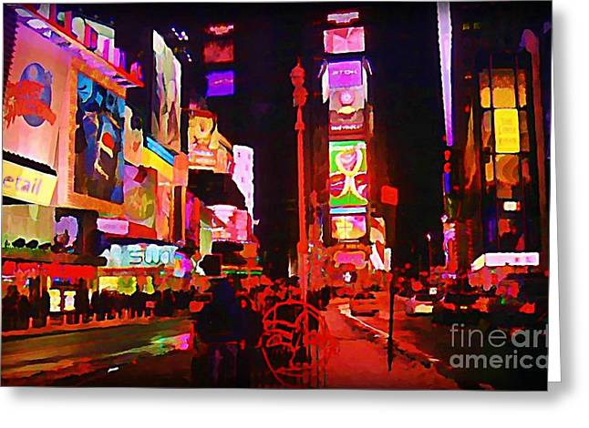 The Heart Of Manhattan Greeting Card by John Malone