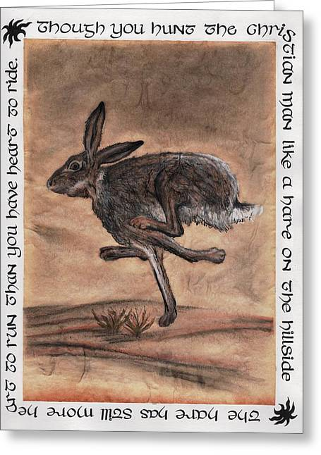 The Heart Of The Hare Greeting Card by Bryana  Johnson
