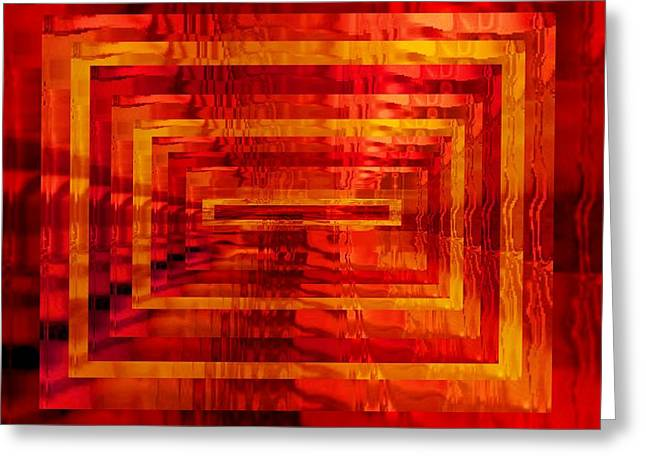 The Heat Is On Op Art Greeting Card by Patricia E Sundik