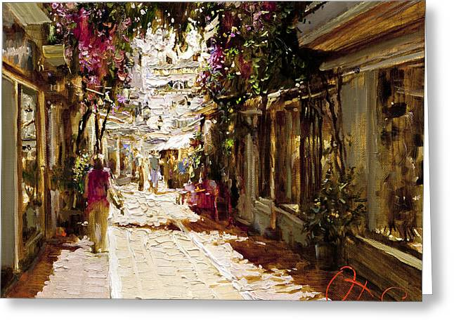 The Heat Of Andalusia Greeting Card by Oleg Trofimoff