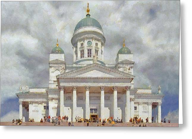 The Helsinki Cathedral Greeting Card by Digital Photographic Arts