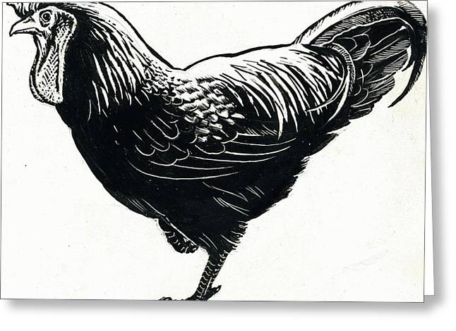The Hen Greeting Card by George Adamson