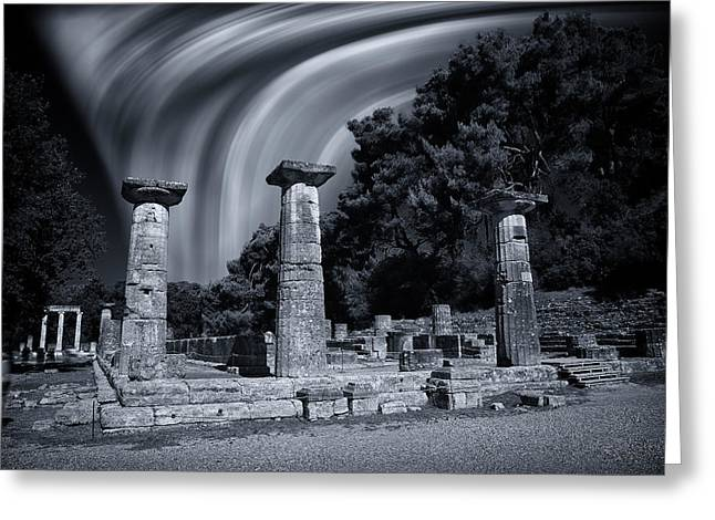 Greeting Card featuring the photograph The Heraion Of Ancient Olympia by Micah Goff