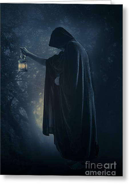 The Hermit Greeting Card by Wolf Kettler