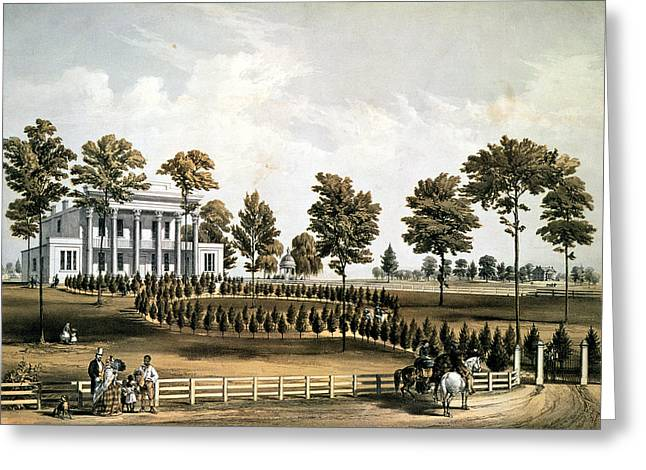The Hermitage, Jacksons Tomb And Andrew J. Donelsons Residence, 12 Miles From Nashville Tennessee Greeting Card by American School