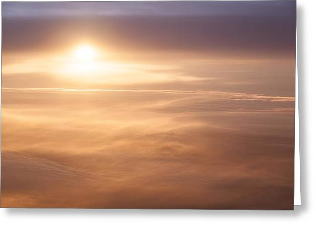 High Altitude Sunset  Greeting Card