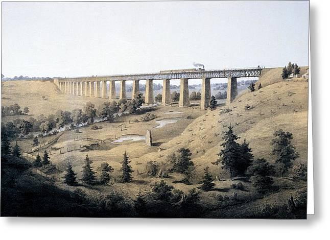 The High Bridge Near Farmville, Prince Greeting Card