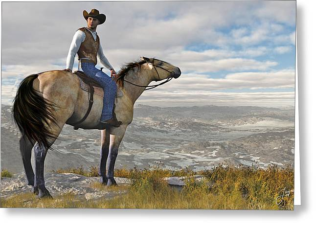 The High Country Greeting Card by Jayne Wilson