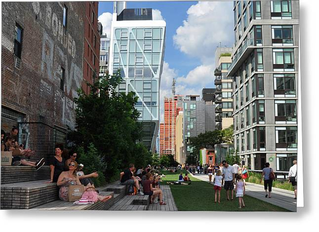 The High Line Greeting Card by Diane Lent