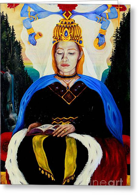 The High Priestess Greeting Card by An-Magrith Erlandsen