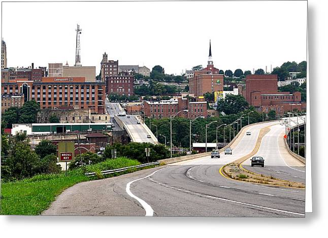 The Hill City Lynchburg Va Greeting Card by Todd Hostetter