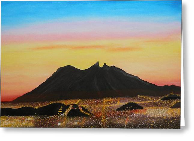 The Hill Of Saddle Monterrey Mexico Greeting Card by Jorge Cristopulos