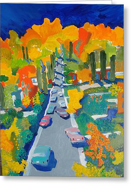The Hill Greeting Card by Rodger Ellingson
