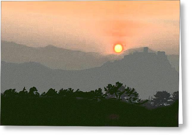 The Hills Of Aragon Greeting Card by Dennis Buckman