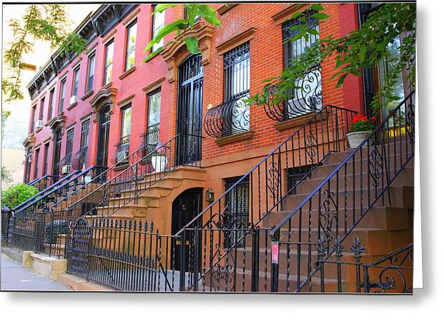 The Historic Brownstones Of Brooklyn Greeting Card