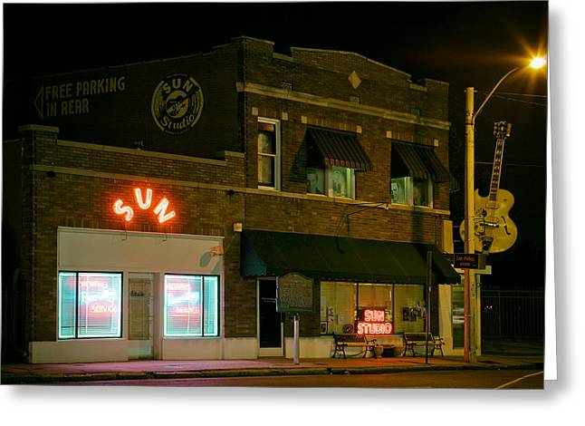 The Historic Sun Record Studio In Memphis Greeting Card by Mountain Dreams