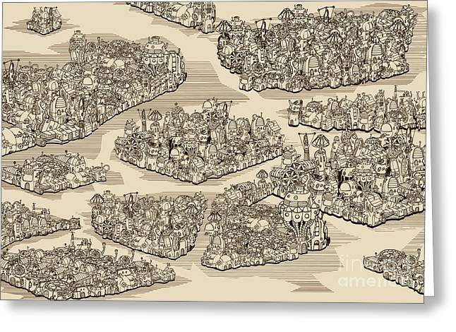 The History We Never Had. Map Greeting Card